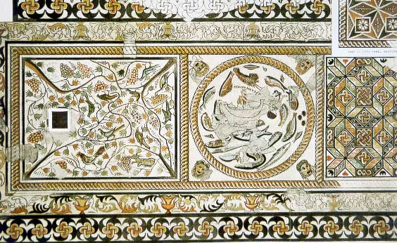 19th Century drawing of a mosaic from Melos