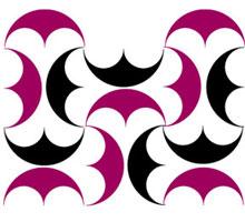 Zweifarbiges Muster aus Viererpelten