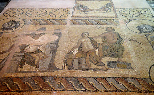Mosaic floor in the museum of Chania